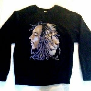 Bob Marley Lion VTG Crew neck Sweatshirt M